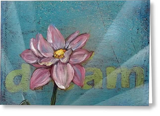 Graffiti Art For The Home Greeting Cards - Dream Lotus Greeting Card by Andrea LaHue