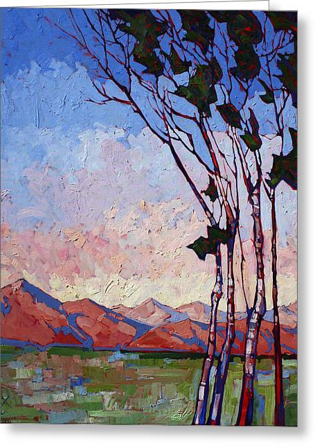 Birch Tree Greeting Cards - Dream of Birches Greeting Card by Erin Hanson