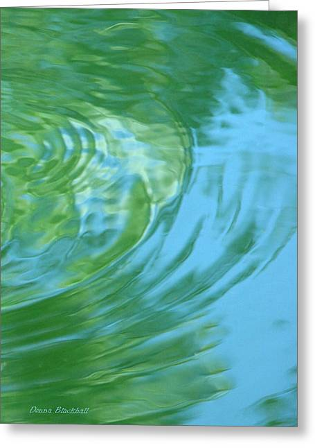 Ripples In Water Greeting Cards - Dream Pool Greeting Card by Donna Blackhall