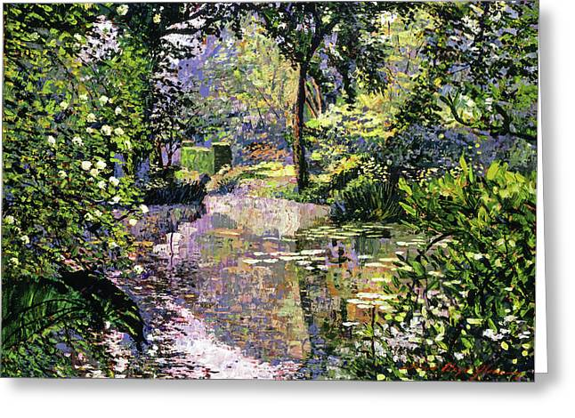 Tropical Gardens Greeting Cards - Dream Reflections Greeting Card by David Lloyd Glover