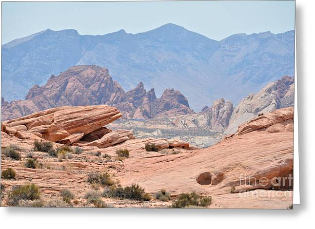 Boulders Tapestries - Textiles Greeting Cards - Dream State Greeting Card by Edna Weber