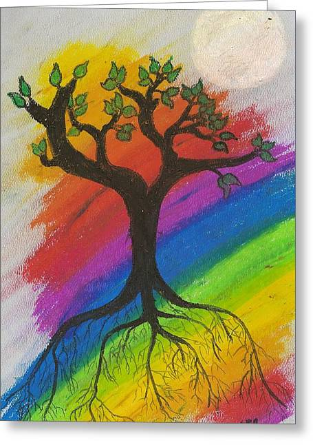Tree Roots Pastels Greeting Cards - Dream Tree Greeting Card by Natalie Hood