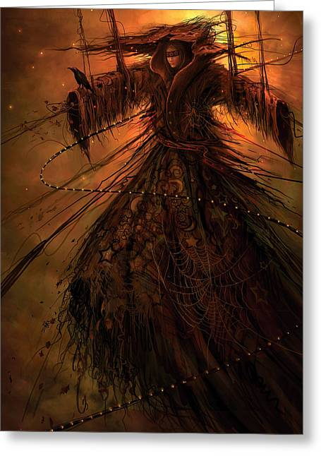 Spider-web Greeting Cards - Dreamcoat Greeting Card by Philip Straub