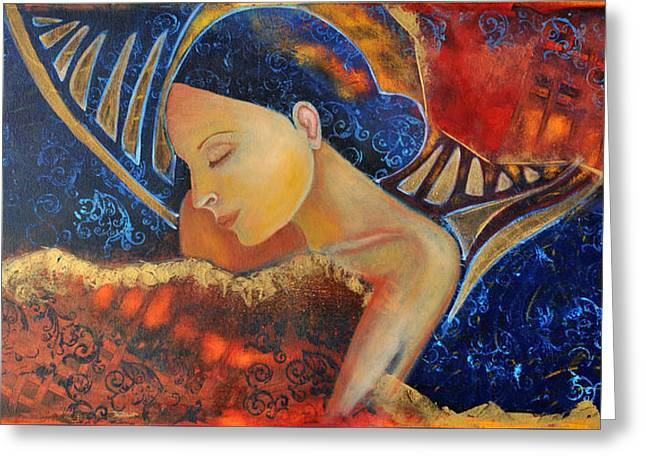 Dreamer Greeting Card by Jeanett Rotter