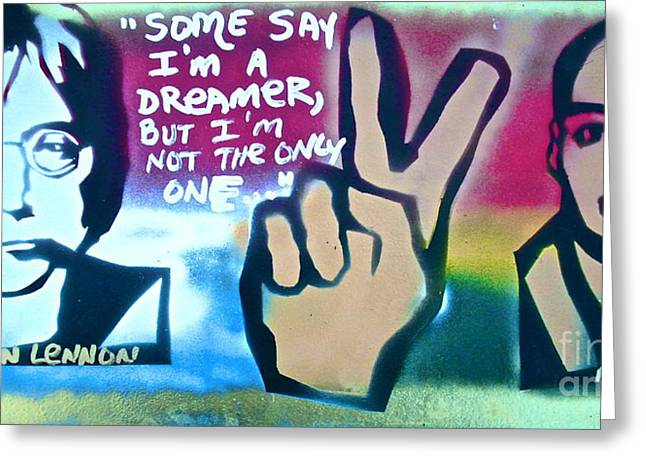 Free Speech Greeting Cards - Dreamers Greeting Card by Tony B Conscious