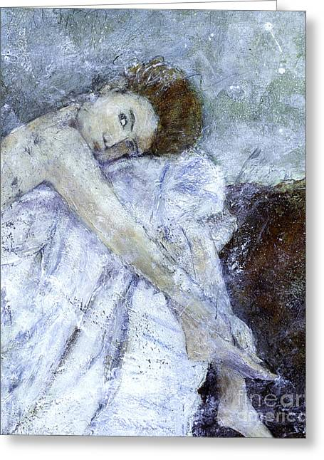 Dressy Greeting Cards - Dreaming  Greeting Card by Barb Pearson