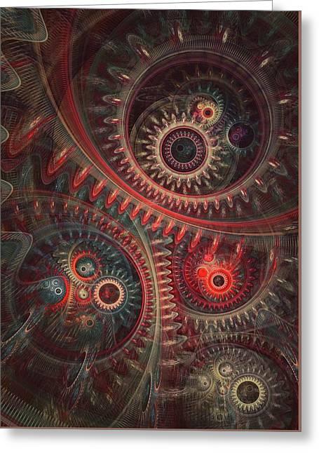 Dreaming Clocksmith Greeting Card by Martin Capek