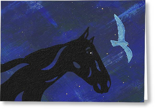 Dreaming Horse Greeting Card by Manuel Sueess