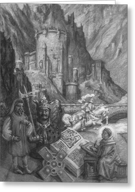 Dreaming In History 1300s Greeting Card by Dennis Earley