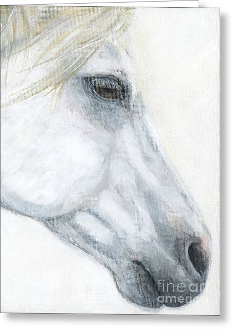 Native American Spirit Portrait Greeting Cards - Sacred Stallion Greeting Card by Brandy Woods