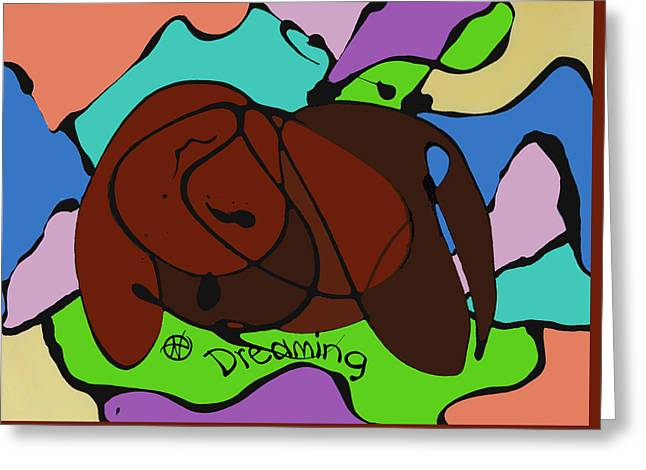 Abstract Digital Paintings Greeting Cards - Dreaming Greeting Card by Nancy Carlton