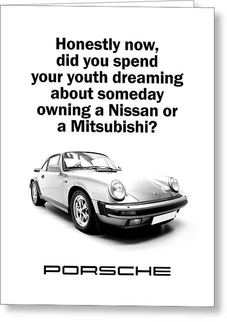 Dreaming Of A Porsche Greeting Card by Mark Rogan