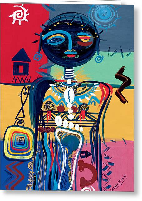 Dreaming Of Africa Greeting Card by Oglafa Ebitari Perrin