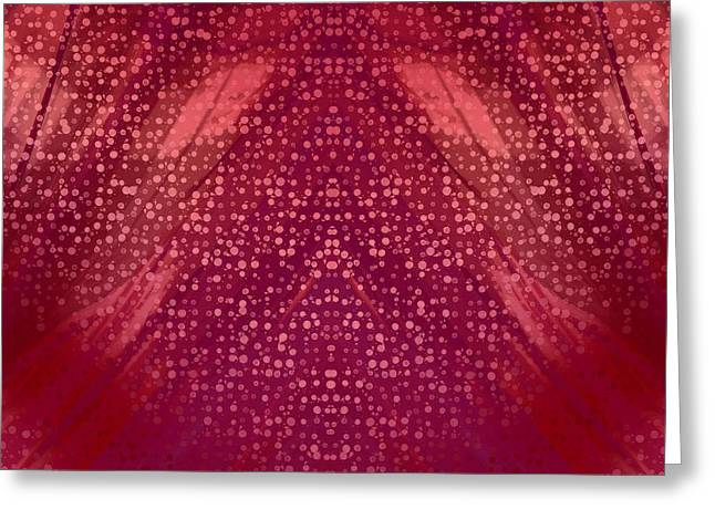 Modern Tapestries - Textiles Greeting Cards - Dreaming of Chiffon Greeting Card by Suzi Freeman
