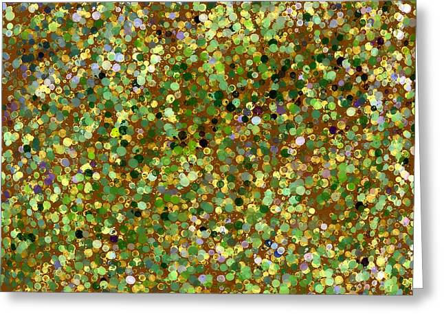 Abstract Tapestries - Textiles Greeting Cards - Dreaming of Gustav Klimpt Greeting Card by Suzi Freeman