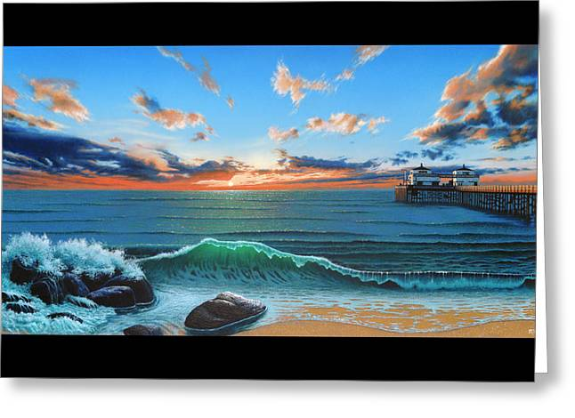 Dreaming Of Malibu Beach Greeting Card by Ross Edwards