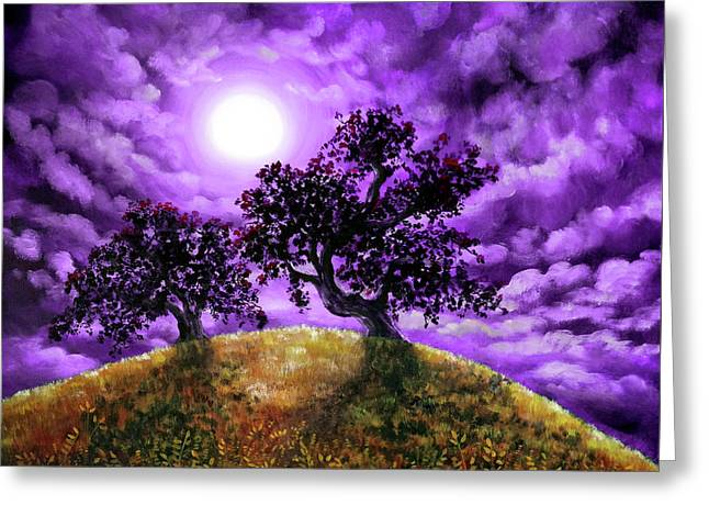 Dreaming Of Oak Trees Greeting Card by Laura Iverson