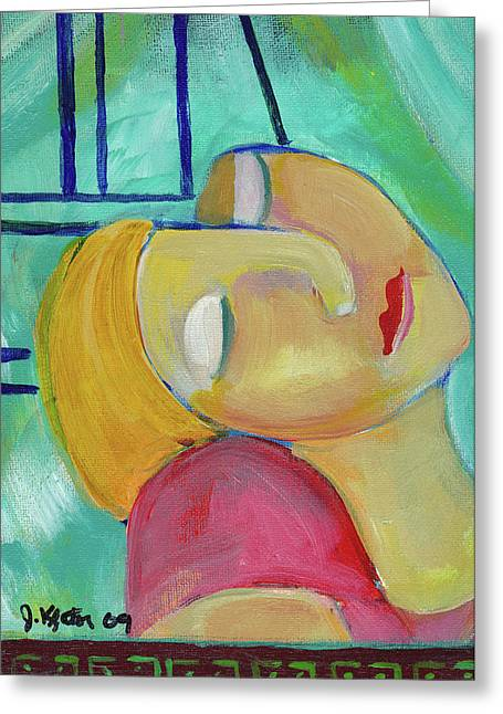 Dreaming Of Picasso Greeting Card by John Keaton