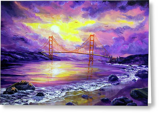 Dreaming Of San Francisco Greeting Card by Laura Iverson