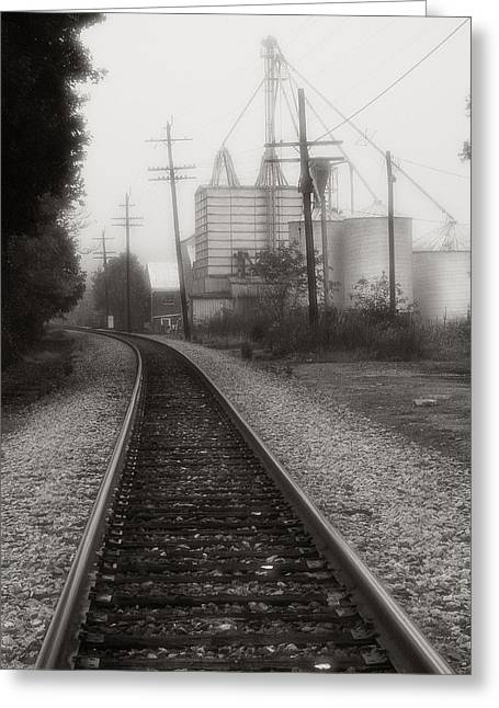 Black And White Train Track Prints Greeting Cards - Dreaming of Trains Gone By Greeting Card by Steven Ainsworth