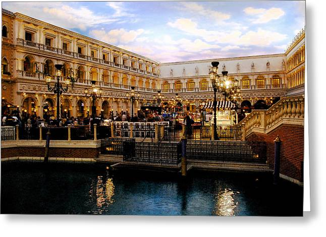 Italian Market Greeting Cards - Dreaming of Venice Greeting Card by David Lee Thompson