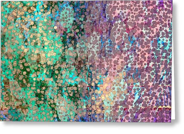 Abstract Tapestries - Textiles Greeting Cards - Dreamings in Jewel Tones Greeting Card by Suzi Freeman