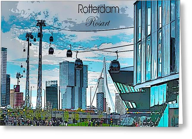 Dreamline Rotterdam Greeting Card by Rosa Maria Intorre