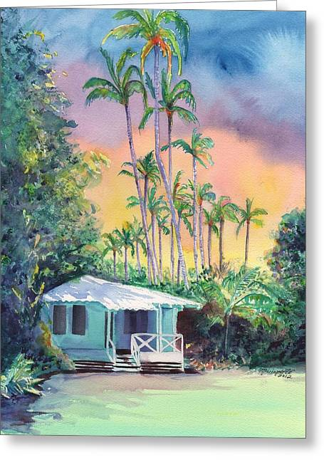 Tropical Island Greeting Cards - Dreams of Kauai Greeting Card by Marionette Taboniar