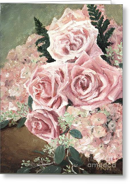 Table Greeting Cards - Dreams of rose Greeting Card by Anna Starkova