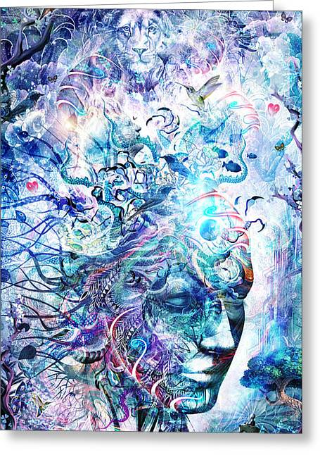 Spiritual Animal Greeting Cards - Dreams Of Unity Greeting Card by Cameron Gray