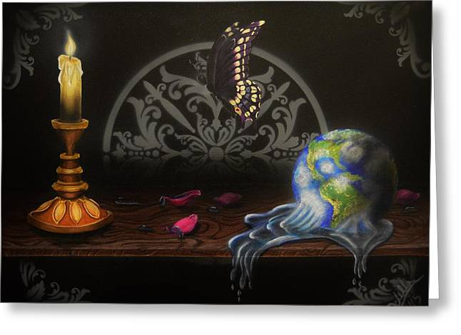 Candle Lit Greeting Cards - Dreams on a shelf Greeting Card by Idella Cutler