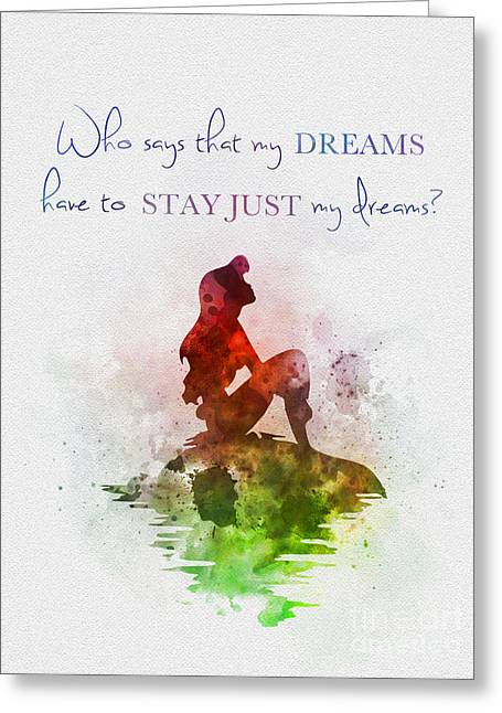 The Little Mermaid Greeting Cards - Dreams Greeting Card by Rebecca Jenkins