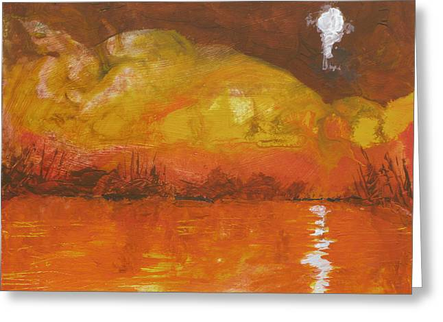 Dream Scape Paintings Greeting Cards - Dreamscape Greeting Card by Robert Bissett