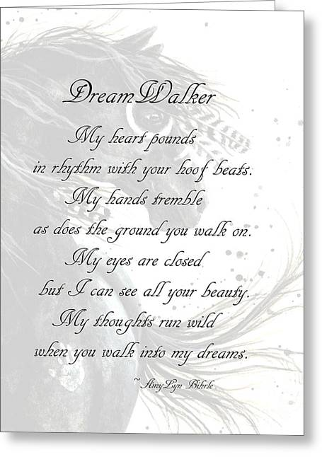 War Paint Art Greeting Cards - DreamWalker Poem Greeting Card by AmyLyn Bihrle