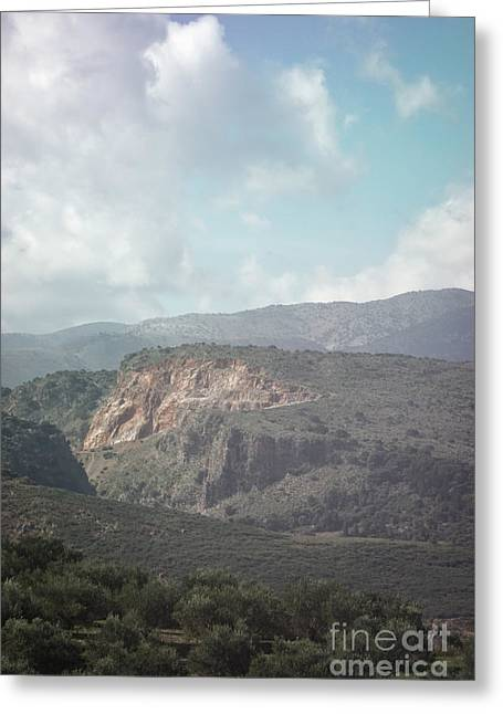 Dreamy Crete Greeting Card by HD Connelly