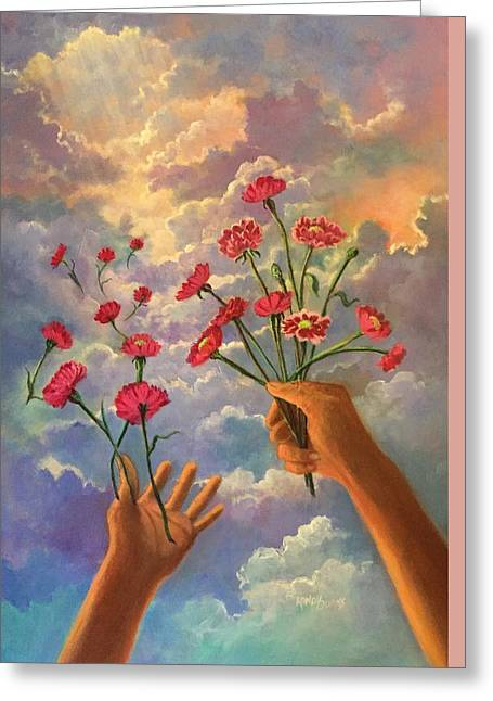 Dreamy  Hands To Heaven Series Greeting Card by Randol Burns