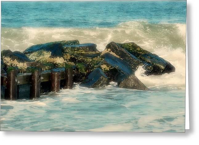 Bay Head Beach Greeting Cards - Dreamy Jetty - Jersey Shore Greeting Card by Angie Tirado