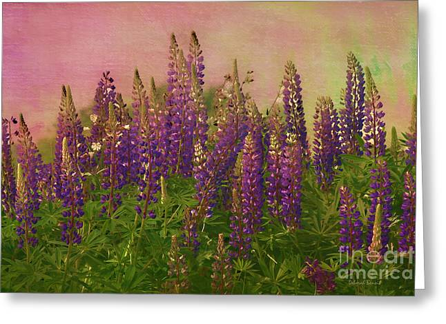 Deborah Benoit Greeting Cards - Dreamy Lupin Greeting Card by Deborah Benoit