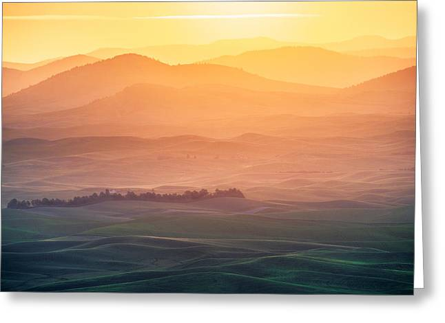 Sunrise Greeting Cards - Dreamy Morning Greeting Card by Naphat Chantaravisoot