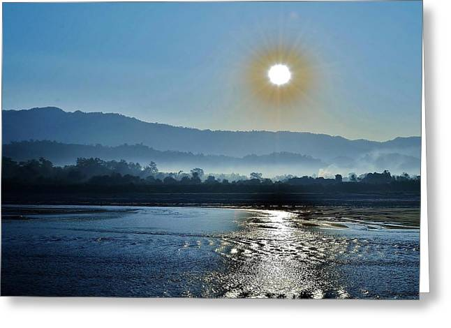 Kim Photographs Greeting Cards - Dreamy Morning On the Ganges Greeting Card by Kim Bemis