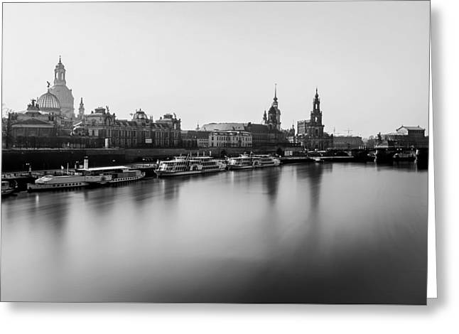 Dresden Greeting Cards - Dresden Waterfront Greeting Card by Unsplash
