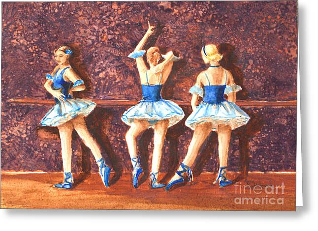 Sokolovich Paintings Greeting Cards - Dress Rehearsal Greeting Card by Ann Sokolovich