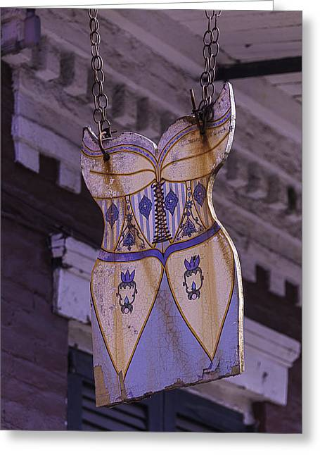 Nola Photographs Greeting Cards - Dress Sign French Quarter Greeting Card by Garry Gay