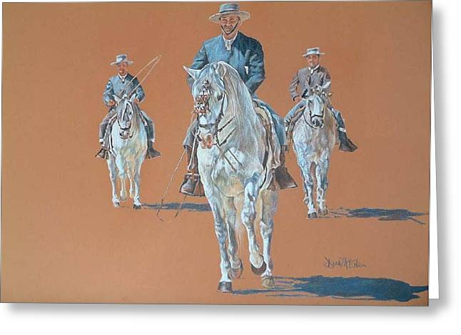 Dressage Drawings Greeting Cards - Dressage Greeting Card by David McEwen