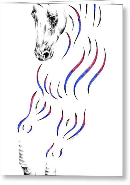 Dressage Drawings Greeting Cards - Dressage Horse Dancer Print Greeting Card by Kelli Swan
