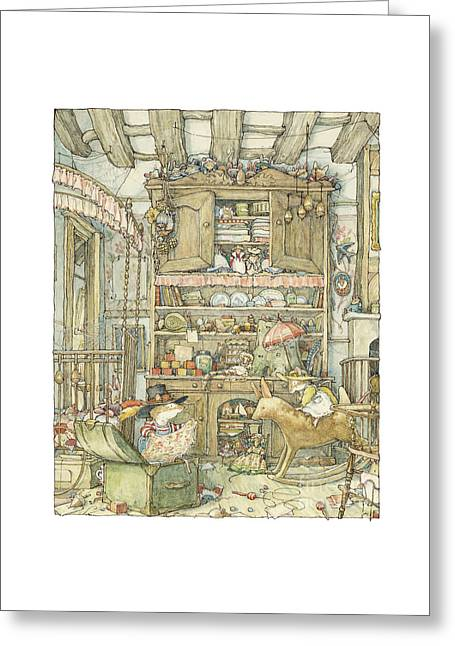 Dressing Up At The Old Oak Palace Greeting Card by Brambly Hedge