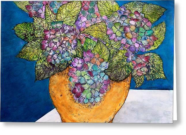 Dried Hydrangeas Greeting Cards - Dried Hydrangea Greeting Card by Janet Immordino