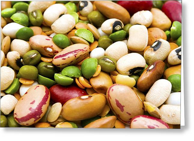 Dried Legumes And Cereals Greeting Card by Fabrizio Troiani