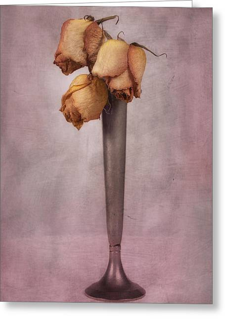 Dried Roses Still Life Greeting Card by Tom Mc Nemar