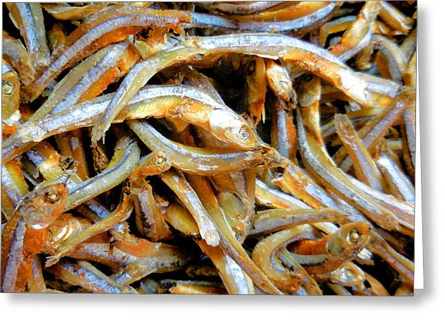 Dried Small Fish  2 Greeting Card by Lanjee Chee
